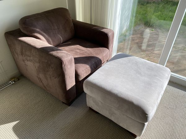 Modern Single Seat Sofa Chair And Ottoman For Sale In