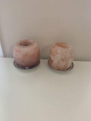 2 pcs himaalayan candle holder for Sale in Alexandria, VA