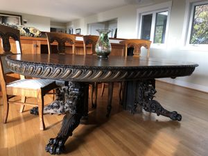 Antique Tiger Oak Dining Table for Sale in Portland, OR