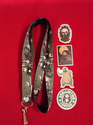 Nightmare Before Christmas Lanyard With 4 Stickers for Sale in Montebello, CA