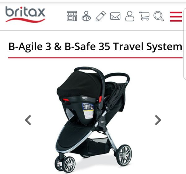 Britax 2016 B-Agile/B-Safe 35 Travel System with accessories