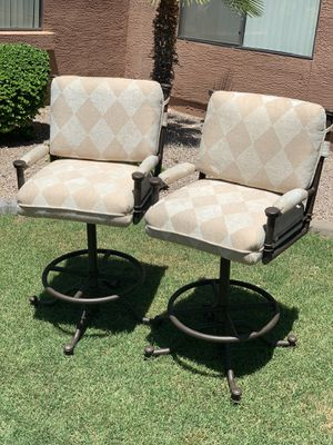 Great pair of Pastel Furniture brand chairs for sale chairs can be use for indoor and outdoor. Both chairs are in good condition and come from a smok for Sale in Phoenix, AZ