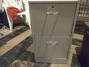 White 2 drawer file cabinet for Sale in Swissvale, PA