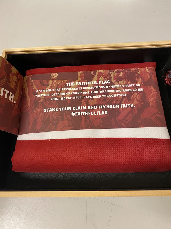 San Francisco 49ers Faithful Season Ticket Holder Flag
