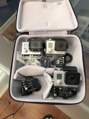 Ragecam GoPro + 2 Hero 3 Black's for Sale in Pembroke Pines, FL
