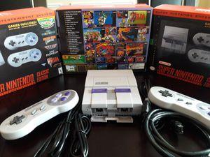 Super Nintendo Snes Mini 21 Classic Games Installed! Super Mario World, Mario Kart, Zelda & More! HDMI & 2 Controllers! $110! for Sale in Atlanta, GA