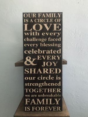 Family Home Decor Sign for Sale in Stockton, CA