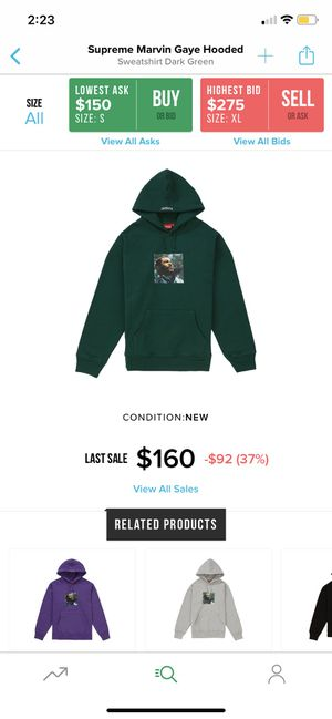 Supreme Marvin Gaye Hoodie (Dark Green) Size Large for Sale in South Brunswick Township, NJ