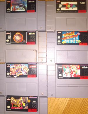 Super Nintendo video games lot for Sale in Garden City, MI
