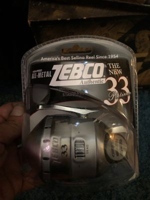 Zebco Authentic all metal 33 platinum fishing reel for Sale in Glendale, AZ