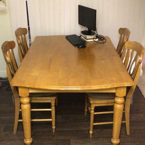 1 Dining Table And 4 Chairs (wooden) for Sale in San Diego, CA