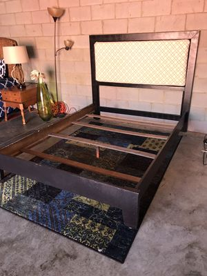 QUEEN size bed with FREE mattress ONLY😀NO Holds-NO Deliver for Sale in Raleigh, NC