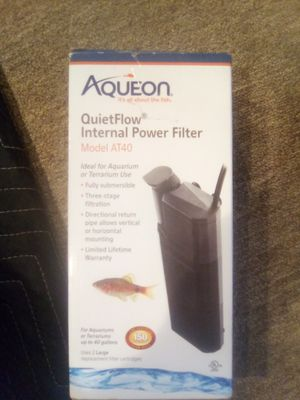 Aqueon quietflow internal power filter.. for Sale in Philadelphia, PA