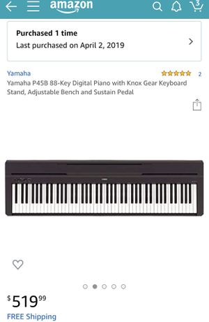 Digital Yamaha piano for Sale in Martinsburg, WV