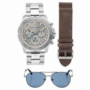 Vince Camuto Chronograph Stainless Steel Men's Watch and Sunglass Set for Sale in Chicago Ridge, IL