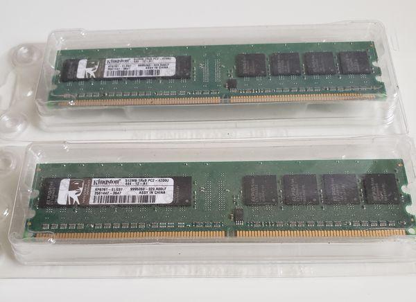 2x 512MB Kingston DDR1 RAM PC2700U 333MHz Dimm Desktop Memory Module KFJ2813/512.