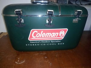 Vintage Coleman Cooler with cd player and stereo for Sale in Verona, PA