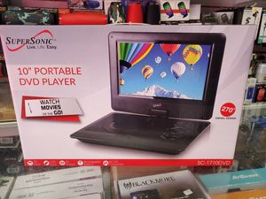 "10"" SWEIVELING SCREEN PORTABLE DVD PLAYER. BRAND NEW for Sale in Los Angeles, CA"