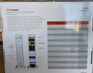 Arris Surfboard Internet WiFi Voice Cable Modem SVG2482AC DOCSIS3.0 Xfinity. A++ for Sale in Oak Lawn, IL