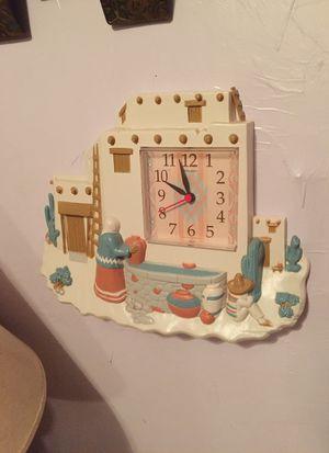1995 homco quartz wall clock southwestern design for Sale for sale  Cartersville, GA