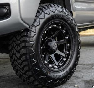 "17"" Toyota Tacoma Wheels & Tires Package ✅17"" XD 134 Addict 2 Wheels Rims ✅ 4 Mud Terrain Tires Size 285/70R17 ✅Package Includes Leveling Kit for Sale in La Habra, CA"