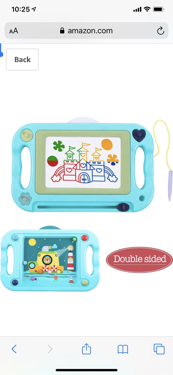 Charunee Magnetic Drawing Board,Magnetic Erasable Doodle Writing Pad,Double Sided Balance Ball Maze Game Sketch Doodle Board Painting Toys Birthday G