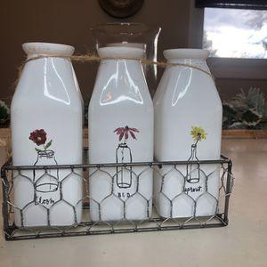 Rae Dunn Milk bottle Vases for Sale in Berlin, CT