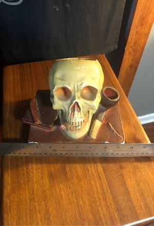 Skull Plaster book end/ table top dish. for Sale in Carol Stream, IL
