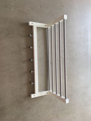 $10 - White Wall Mount Shelves with Hooks for Sale in Boca Raton, FL
