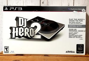 Sony Playstation 3 PS3 DJ Hero 2 Turntable Bundle With Game - NEW for Sale in Harrisonburg, VA