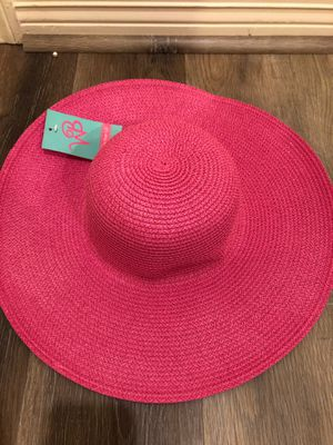 Hot pink wide brimmed sun hat NWT for Sale in Houston, TX