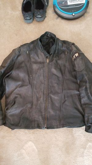 Vintage heavy duty leather motorcycle jacket for Sale in Tampa, FL