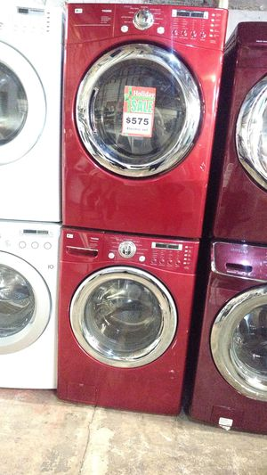 LG front load washer and dryer set working perfectly with 4 months warranty for Sale in Baltimore, MD