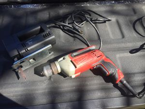 Heavy duty drill and jig saw black and decker for Sale in West Palm Beach, FL