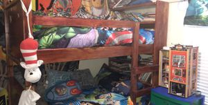Bunkbeds w bookshelves and mattress for Sale in Georgetown, TX