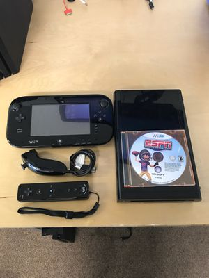 Nintendo Wii U with Gamepad and 1 Game for Sale in Victorville, CA