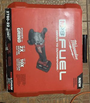 Milwaukee M18 FUEL 18-Volt Lithium-Ion Brushless Cordless 4-1/2 in. /5 in. Grinder W/ Paddle Switch Kit W/ (2) 5.0Ah Batteries for Sale in Miami, FL