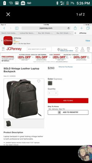 Leather backpack for Sale in Joint Base Lewis-McChord, WA