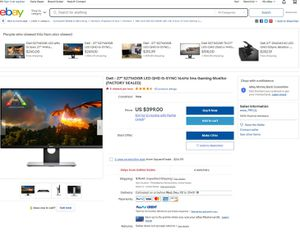 """Dell 27"""" Inch LED QHD G-sync 1440p 144hz 1ms gaming monitor for Sale in West Palm Beach, FL"""