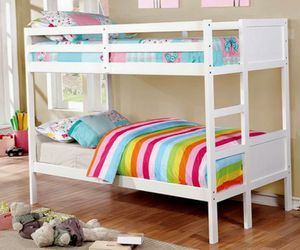 Wood Bunk Beds Twin Over Twin - $27/month for Sale in Centennial, CO