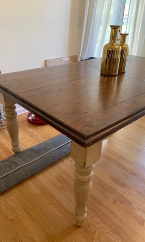 Solid wood extendable rustic farm table for Sale in Happy Valley, OR