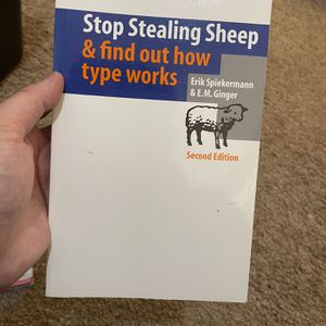 Stop Stealing Sheep & Find Out How Type Works for Sale in San Francisco, CA