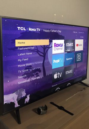"Excellent condition 50"" TCL 5 Series Smart Roku 4KHDR flatscreen tv. $350 or best offer. USF area for Sale in TEMPLE TERR, FL"