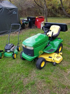 """John deere lx model with 18hp vanguard engine 54"""" deck and powerflow bagger for Sale in Lincoln, DE"""