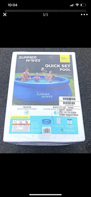 Summer waves 10ft pool for Sale in Dearborn, MI