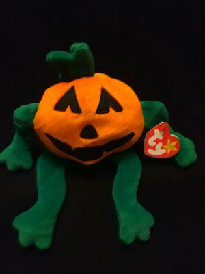 Mint Condition Ty Beanie Babies Pumkin The Halloween Jack O Lantern Birthday October 31, 1998 for Sale in Gresham, OR
