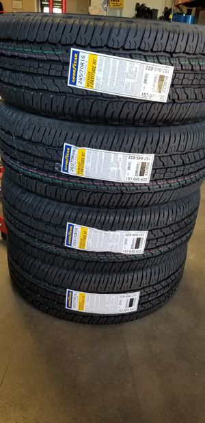 265 70 16 GOODYEAR WRANGLER TIRES for Sale in Colton, CA