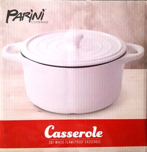 New! Parini Cookware 2 QT White Flameproof Casserole Dish for Sale in Moreno Valley, CA