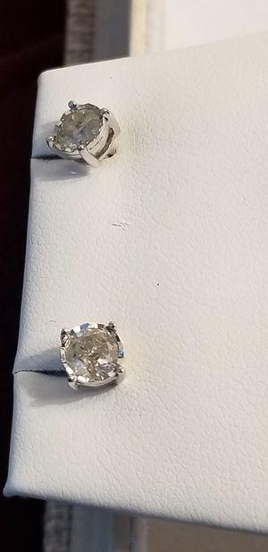 1 carat tdw diamond earrings! Sweet deal for Sale in Fredericksburg, VA