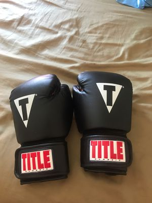 Leather Title Classic Boxing Gloves for Sale in Highland Hills, OH